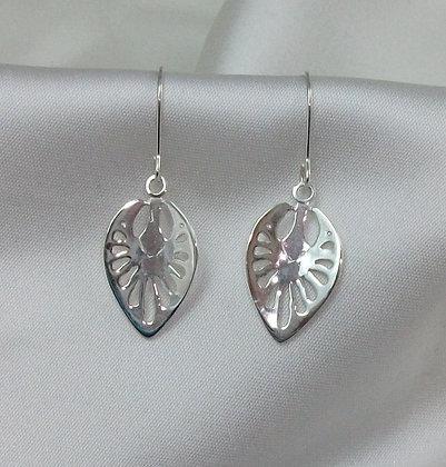 Strawberry leaf earrings