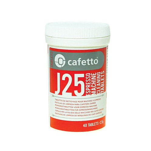 J25 CAFETTO CLEANING TABLETS 40 PIECES