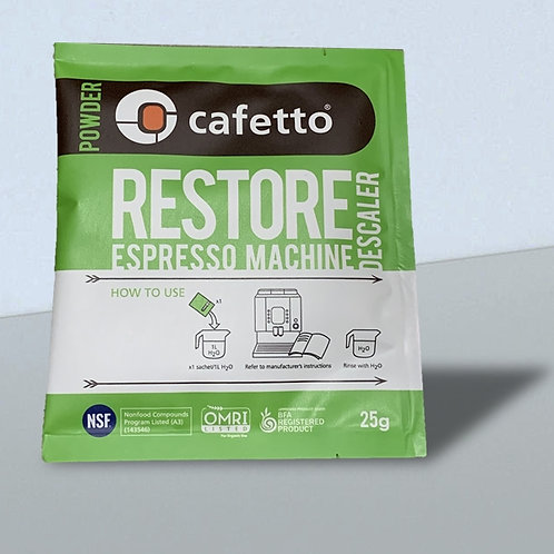 CAFETTO RESTORE DESCALER POWDER: 25G