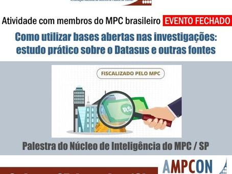 """Palestra – """"Como utilizar bases abertas nas investigações"""""""