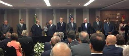 Presidente da AMPCON participa da solenidade de posse de ministro do TCU