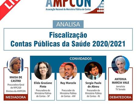 Live da Ampcon debaterá fiscalização de contas da saúde pública