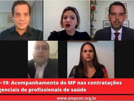 """""""AMPCON ANALISA"""" ABORDOU EM LIVE CONTRATAÇÕES EMERGENCIAIS DE PROFISSIONAIS DE SAÚDE"""