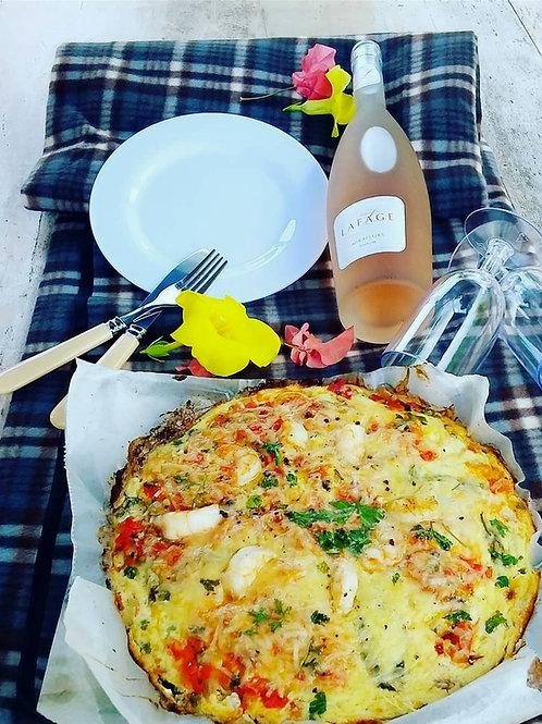 Island Seafood Frittata - SERVES 4