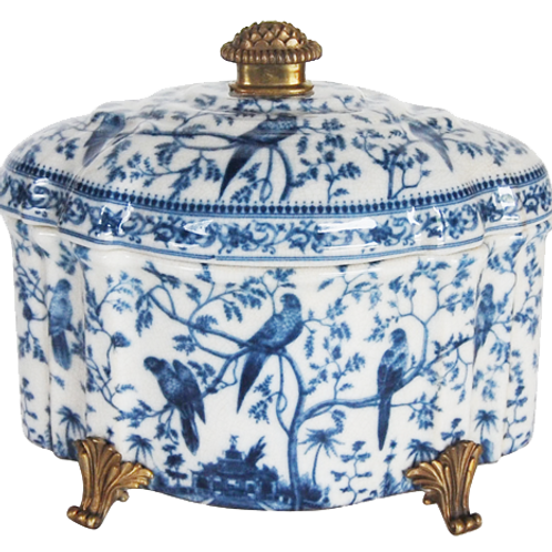 Jar Blue Lidded