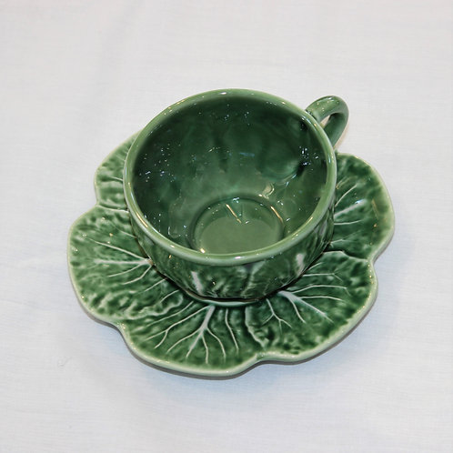 Tea Cup & Saucer Cabbage Design