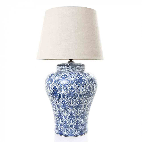 Table Lamp Blue and White