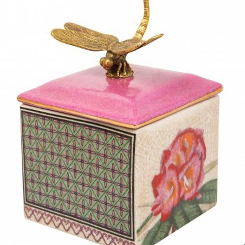Ceramic Trinket Box Dragon Fly