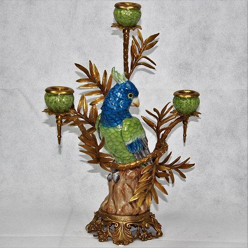 Ceramic & Brass Candelabra