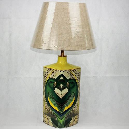 Hand-painted Ceramic lamp (with shade)