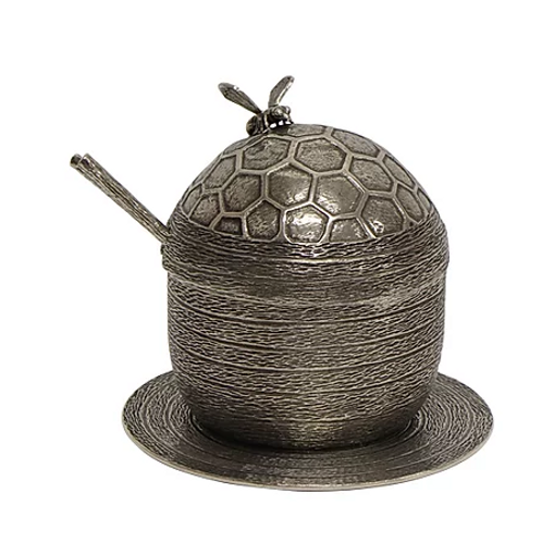 Pewter Honey Jar
