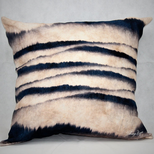 Japanese Shibori Linen Cushion
