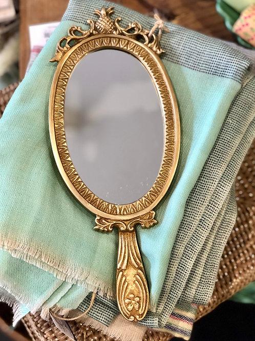 Brass Hand Mirror
