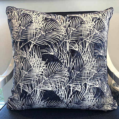 Cushion Blue Palm