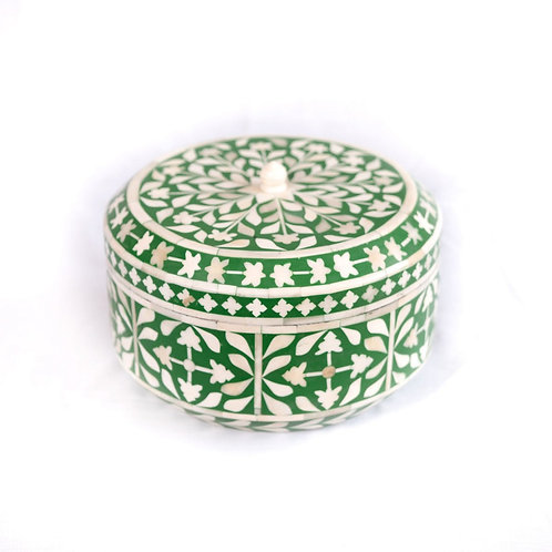 Bone Inlay Box Green