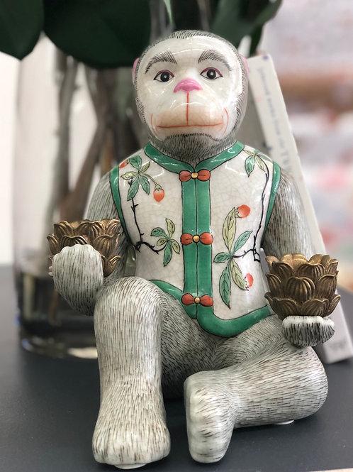 Ceramic Monkey Candelabra