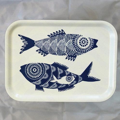 Tray - Blue Fish 27x20cm