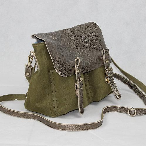 Handbag Leather and Linen