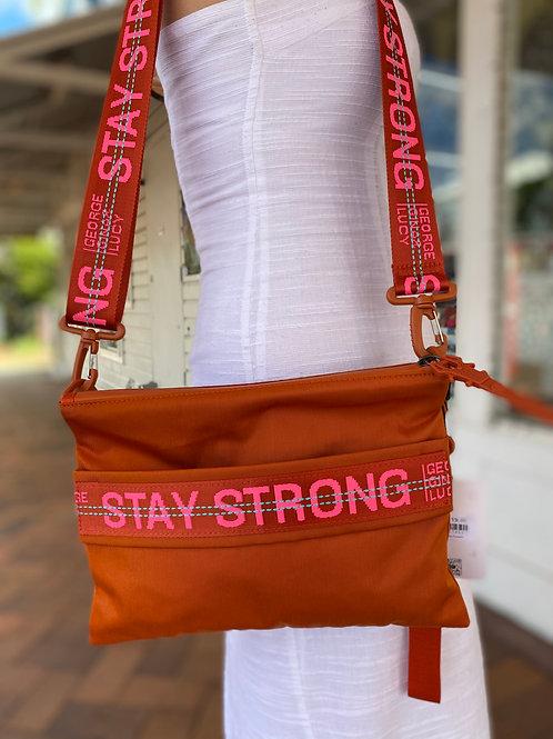 Orange & Pink Stay Strong Bag