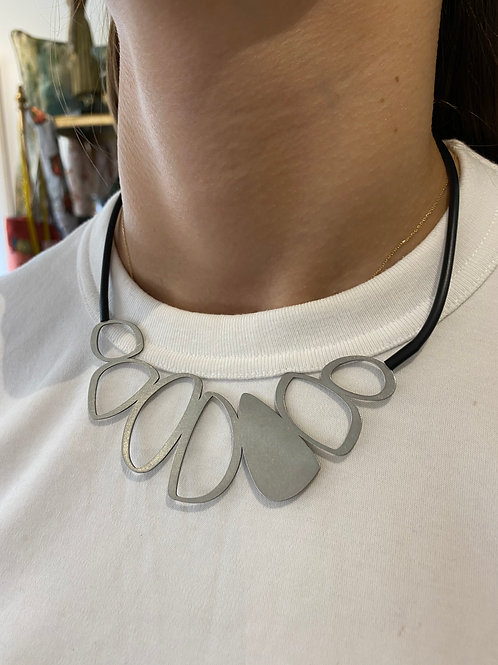 Stainless Steel Artistic Stone Necklace