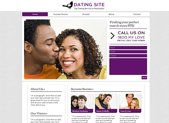 Dating Site Website Template WIX - Dating website template