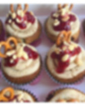 Peanut Butter & Jam cupcakes out for del