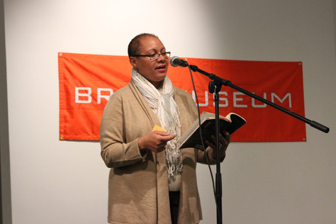 Maria Aponte reading at The Bronx Museum of the Arts