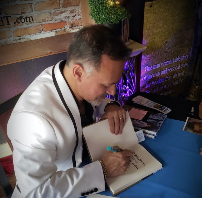 Hector La Fossé at The Journey Book Signing