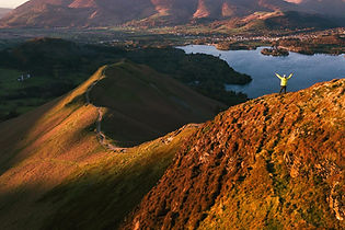 Hiking up Catbells