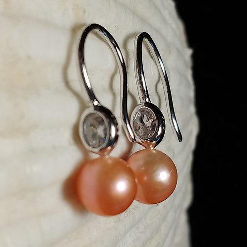 Cz hook earring