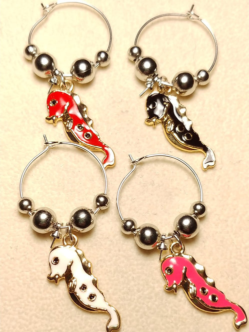 Seahorse Wine Charms