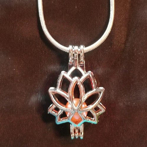 Silver plated lotus