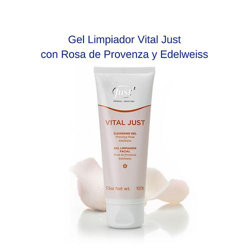 Gel Limpiador Vital Just con Rosa de Provenza y Edelweiss