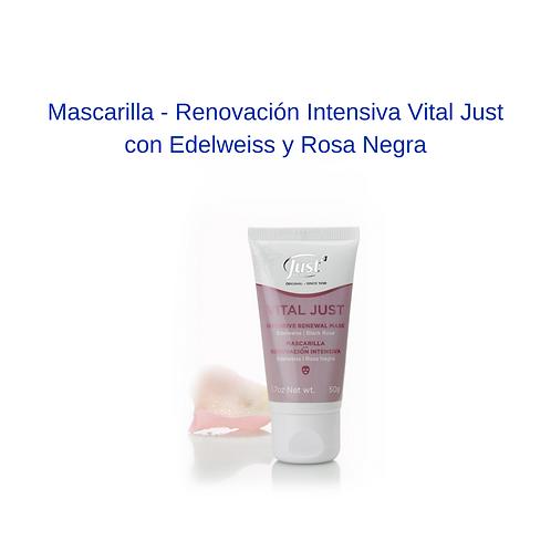 Mascarilla - Renovación Intensiva Vital Just  con Edelweiss y Rosa Negra