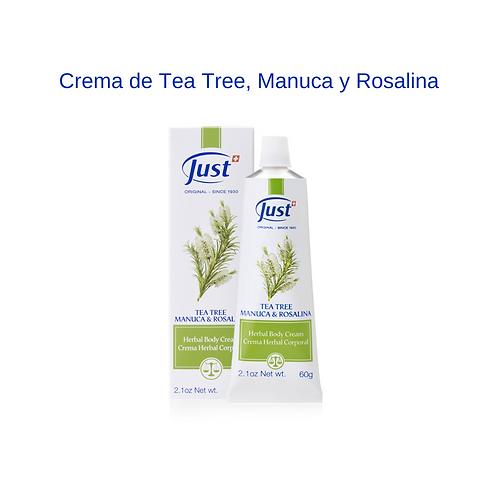 Crema de Tea Tree, Manuca y Rosalina