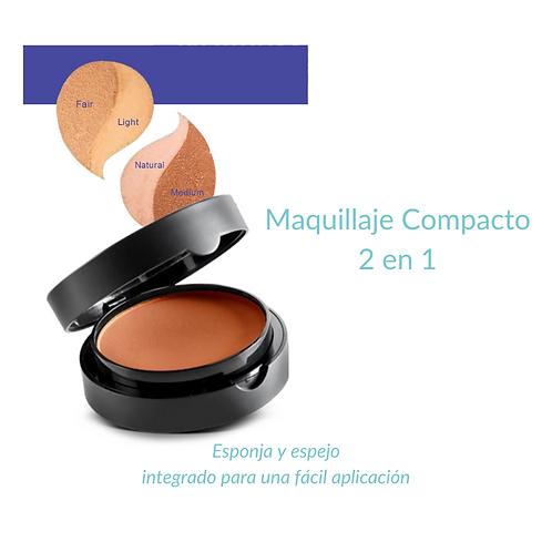 Maquillaje Compacto 2 en 2 en 1