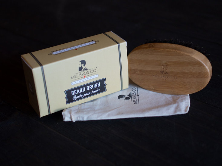 Cepillo para Barba de Cerda de Jabali y Mango de Bamboo
