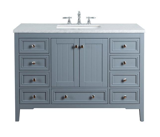 """New Yorker 48"""" Grey Single Sink Vanity"""