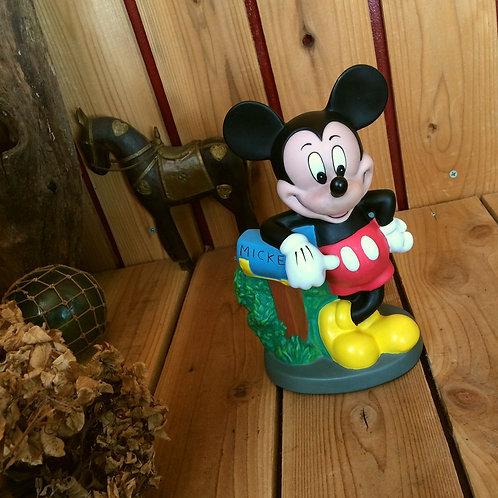 80'sヴィンテージ*東京ディズニーランド*古いミッキーマウス*ソフビ ドール貯金箱