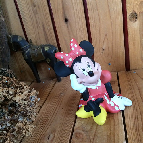 80-90'sヴィンテージ*ディズニー*古いミニーマウス*ドール貯金箱