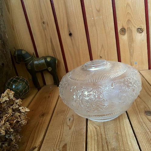 70-80'sヴィンテージ*古いエンボス ガラスのシェード