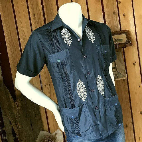 半袖刺繍キューバシャツ
