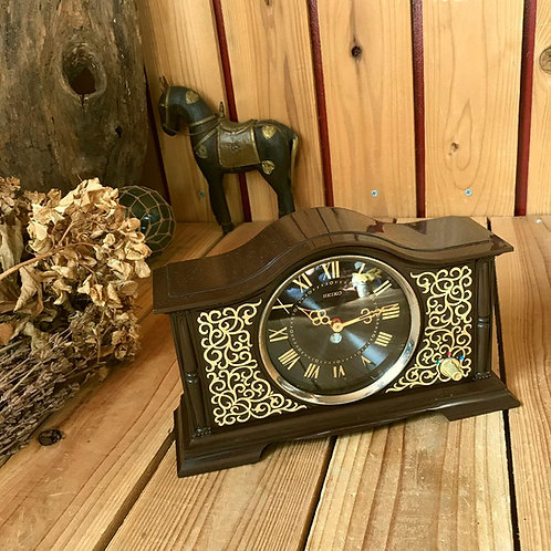 70-80'sヴィンテージ セイコー コロナ メロディア 手巻き式オルゴール目覚し時計