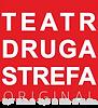 Logo teatru - białe litery na czerwonym tle: TEATR DRUGA STREFA ORIGINAL