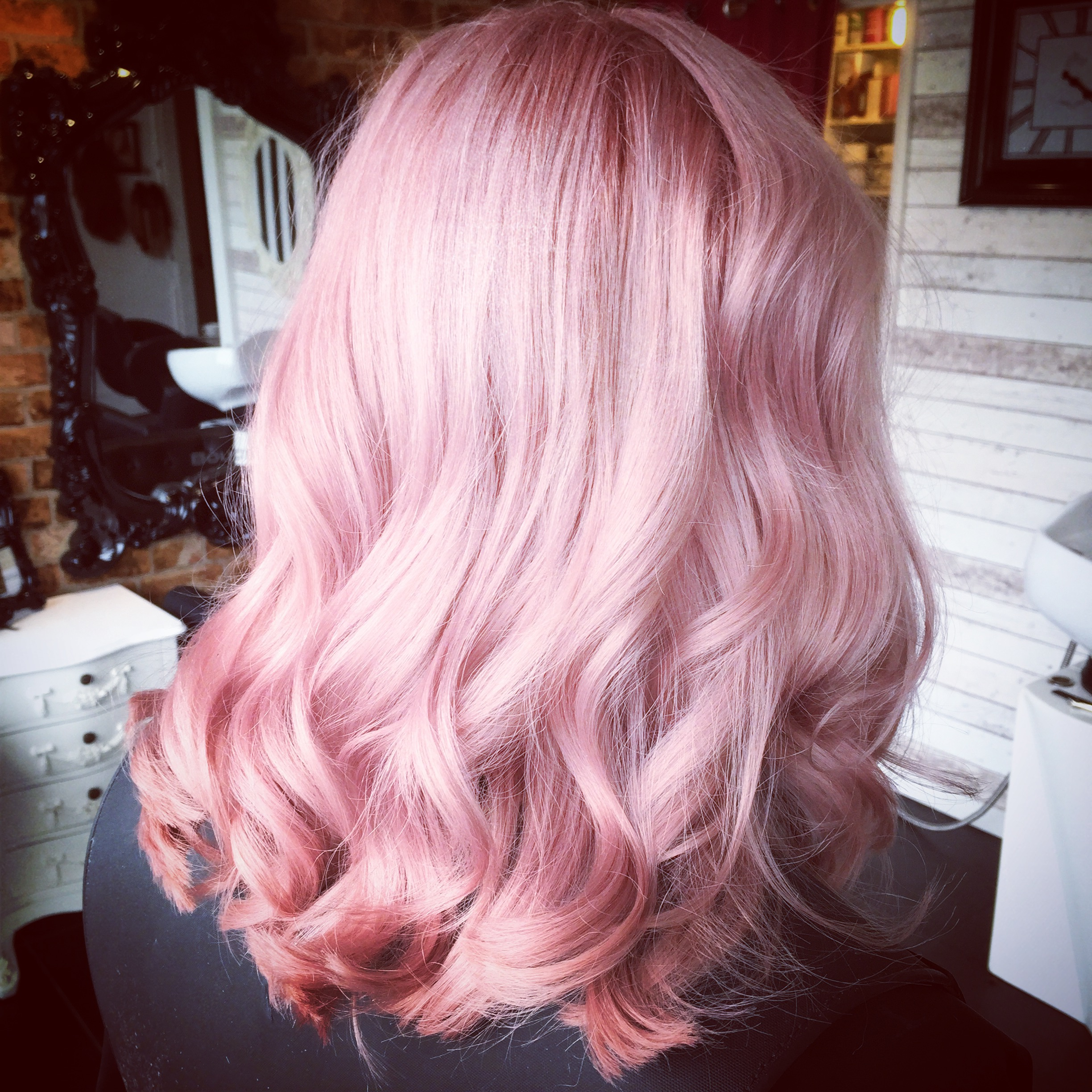 pink hair created using boreal professional products by hair experts