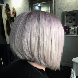 white blonde with lilac and pink tones colour hair experts