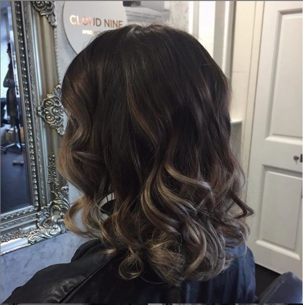 soft and subtly balayage using soft highlight tones on dark brunette hair colour, only achievable in