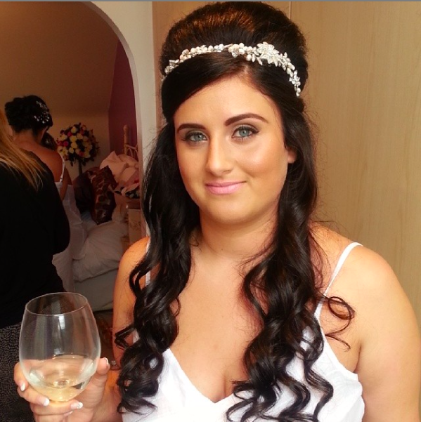 volume wedding hair for this hair up on a beautiful bride