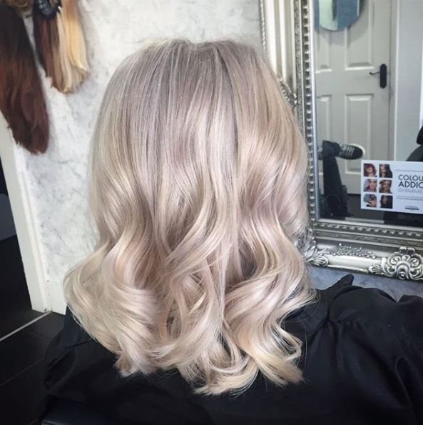 the perfect blonde hair colour created in a professional hair salon and achieved using the highest s
