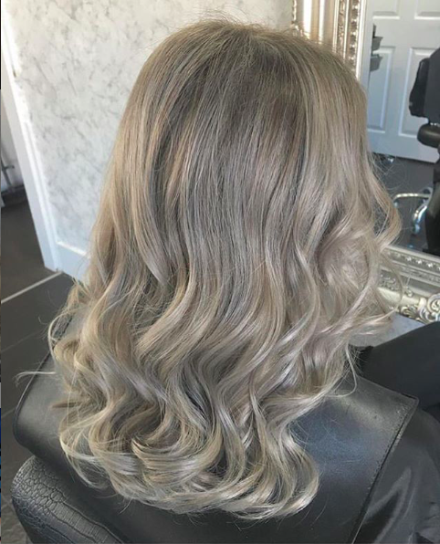 cleanest ash blonde with bond builder to keep hair quality and health